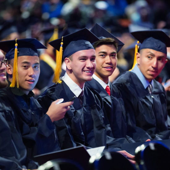 students at UIC commencement