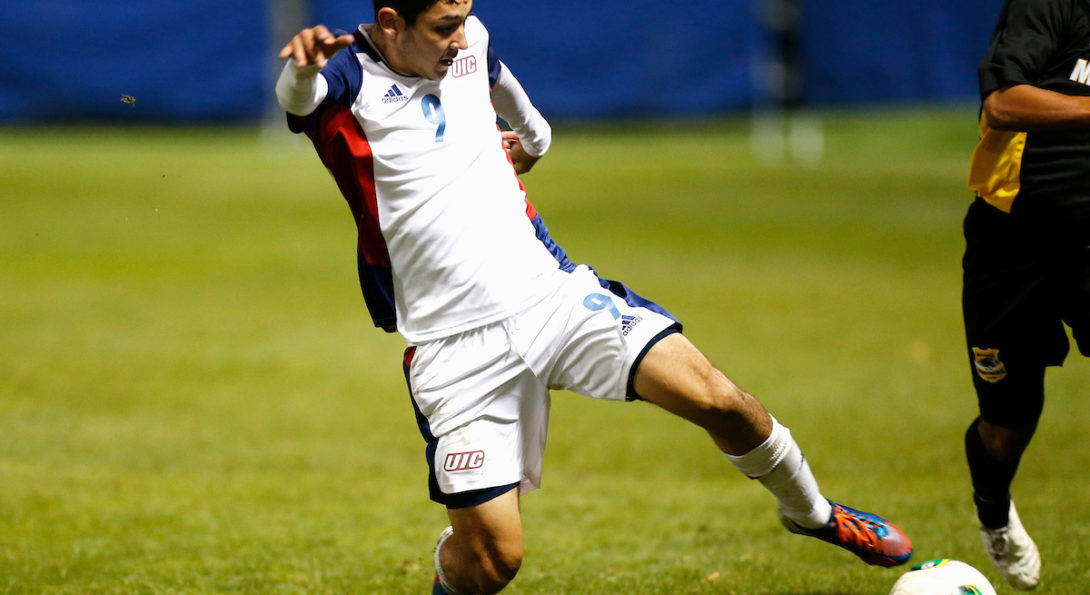 uic flames soccer player in action