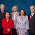 Alumni award winners photographed with Chancellor Amiridis and President Killeen