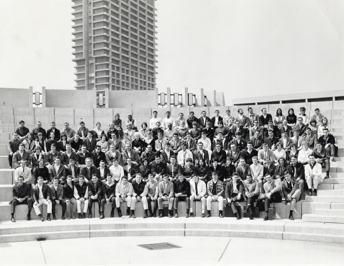 The class of 1966 school photo