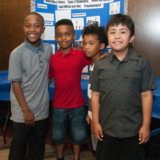 children at a UIC event