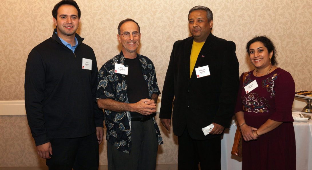 Alumni enjoy an evening of networking and catching up at a reunion on the North Shore.