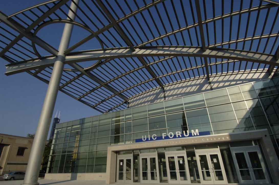 The UIC Forum which will be renamed the Isadore and Sadie Dorin Forum at UIC.