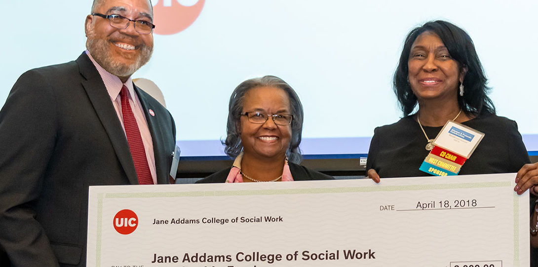 The event raised $2000 for the Jane Addams College of Social Work Scholarship Fund