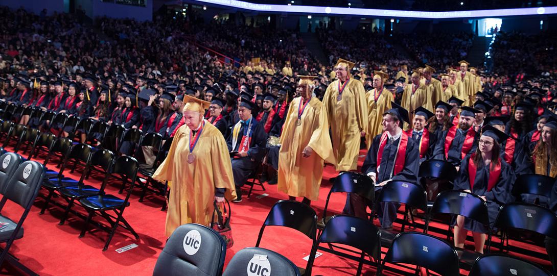 Golden graduates at commencement