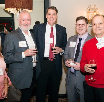 alumni enjoying the houston reception