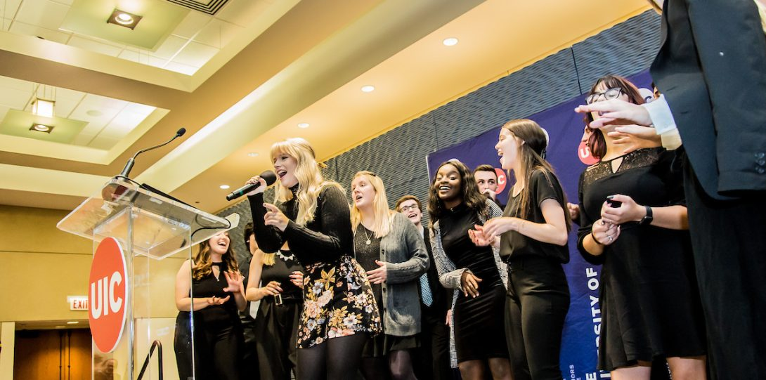 Downtown Voices performs at the 2019 UIC Alumni Award Celebration