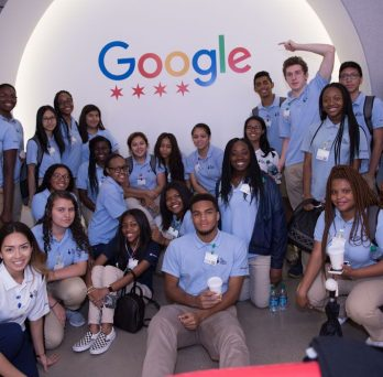 Group of students at Google