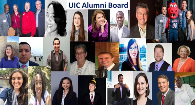 UIC Alumni Board collage