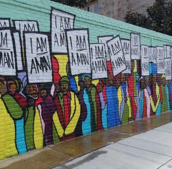 mural that reads I am a man