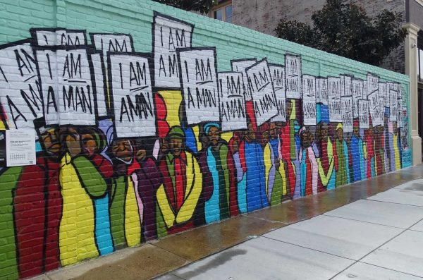 a mural that says I am a Man