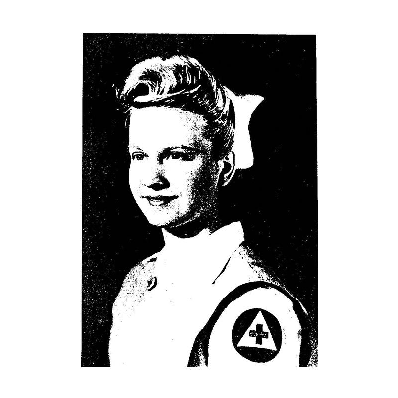 a nurse in a red cross uniform